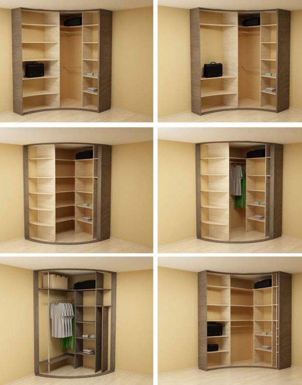 Организация внутреннего пространства шкафа