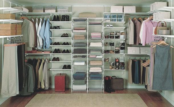 Пример организации системы хранения гардеробной