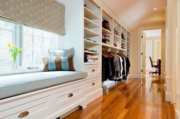 Вариант дизайна гардеробной в коридоре