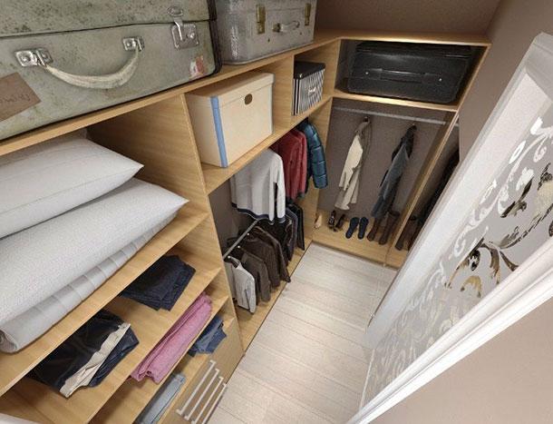 Фото маленькой гардеробной комнаты