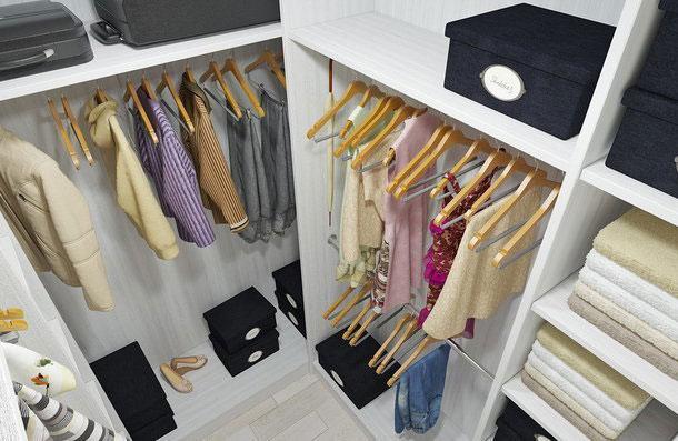 Проект маленькой гардеробной