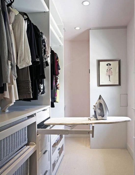 Оборудование гардеробной комнаты