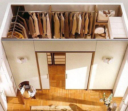 Конструкция встроенной гардеробной