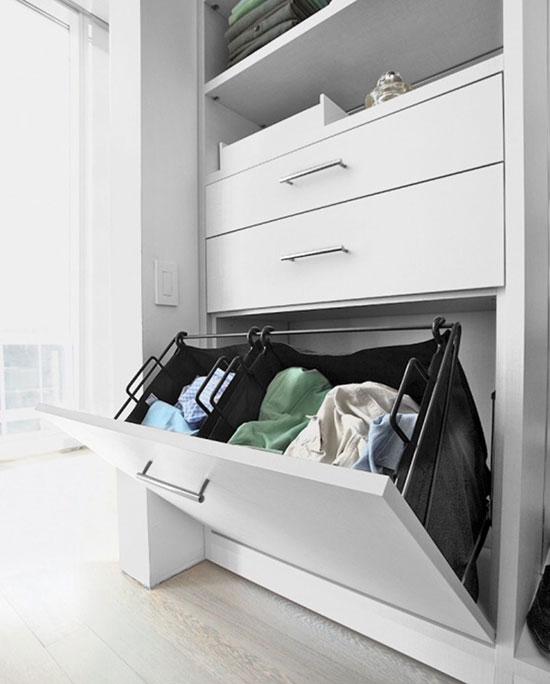 Варианты полок и ящиков в гардеробную