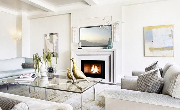 Можно ли повесить телевизор на стену над камином