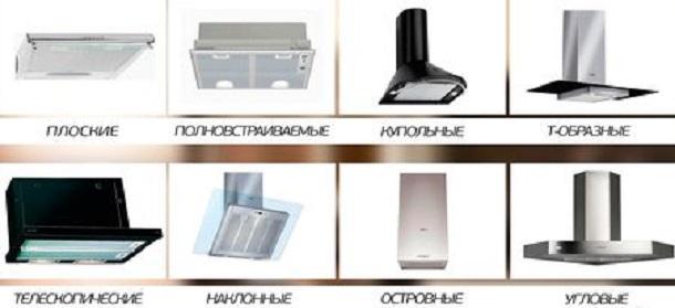 Типы вытяжек для кухни