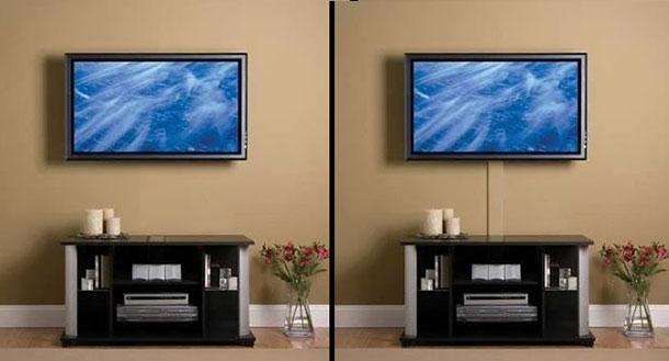 Способы прокладки кабелей для подключения телевизора