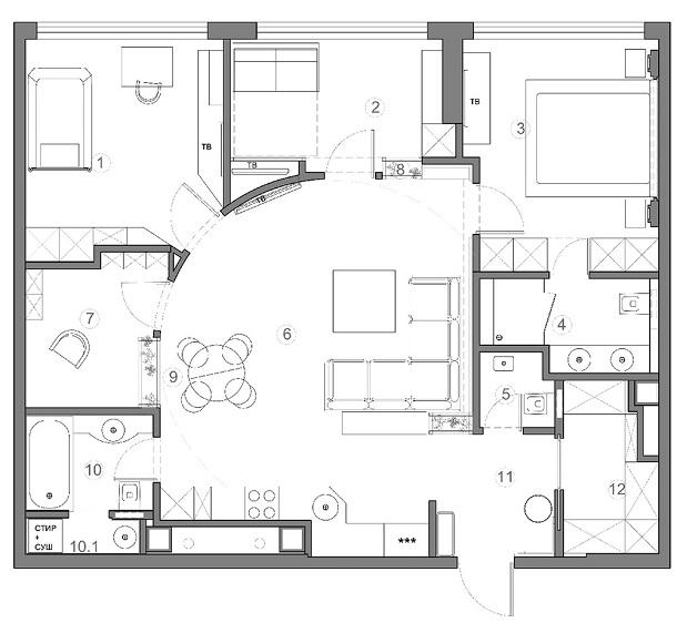 План проекта квартиры