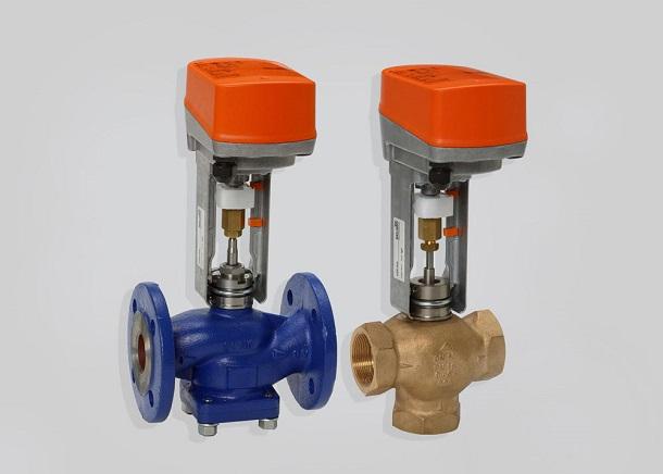 Клапан трехходовой регулирующий с электроприводом