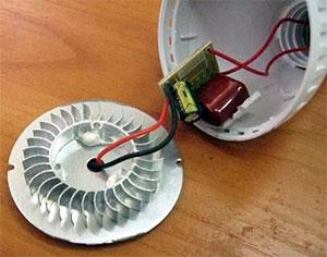 Алюминиевый радиатор светодиодных ламп