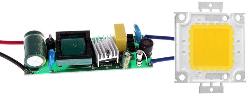 Подключение светодиодов к сети 220в схема