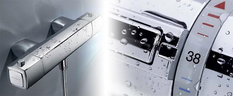 Смеситель с терморегулятором для ванной