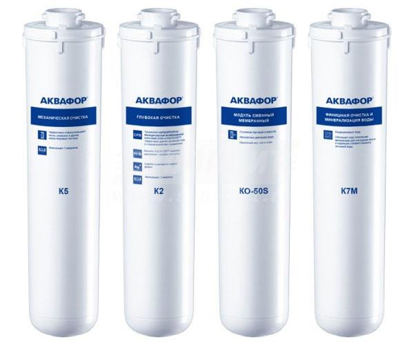 Сменные фильтры для воды Аквафор