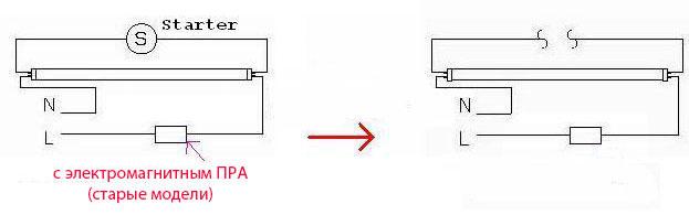 Как подключить светодиодные лампы вместо люминесцентных