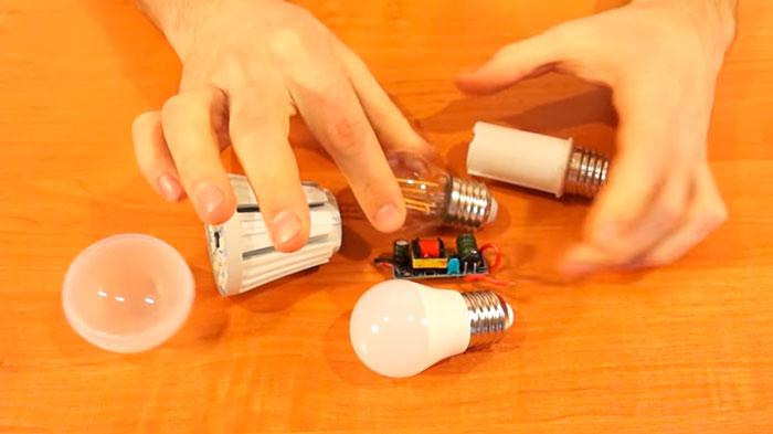 сравнение драйвера светодиодной лампы на смд и филаментной